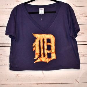 VS Pink Detroit Tigers Crop Top Size M ⚾️🐅 NWOT